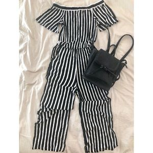 Comfy Off- The Shoulder Jumpsuit